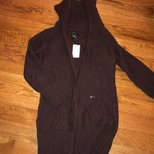 BCBG oversized zip up sweater/sweater dress